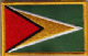 Guyana Embroidered Flag Patch, style 08.